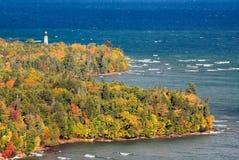 Au punktu Sobolowa latarnia morska Zdjęcia Royalty Free