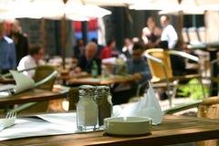 Au restaurant Photo stock