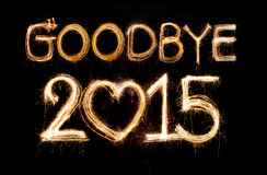 Au revoir 2015 Photos stock