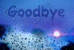 au-revoir Photo stock