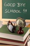 Au-revoir école Photos stock