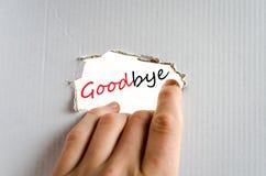 Au revoir concept image stock