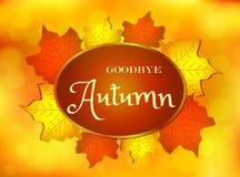 Au revoir conception d'automne avec le texte illustration de vecteur