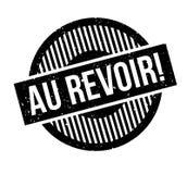 Au Revoir rubber stamp Stock Photos