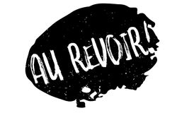 Au Revoir rubber stamp Stock Photography