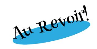 Au Revoir rubber stamp Royalty Free Stock Images