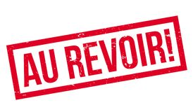 Au Revoir rubber stamp Royalty Free Stock Photography