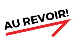 AU REVOIR sticker. Authentic design graphic stamp Stock Photography