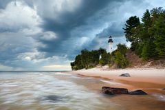 Au Sable Lighthouse. stock images