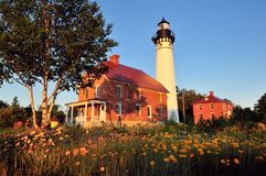 Au Sable Point Lighthouse royalty free stock images