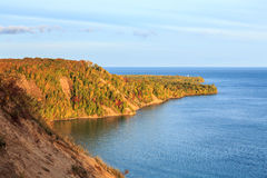 Au Sable Point Sunrise in Autumn - Pictured Rocks, Michigan Stock Photography