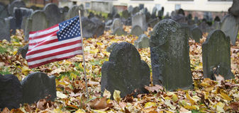 Au sol d'enterrement de grenier, Boston Photos stock