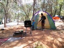 Au sol de camping Image libre de droits
