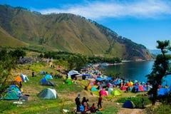 Au sol de camping Paropo photos libres de droits
