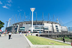 Au sol de cricket de Melbourne Photographie stock