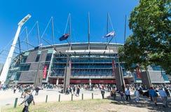 Au sol de cricket de Melbourne Photos stock