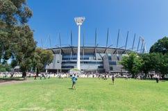 Au sol de cricket de Melbourne Photographie stock libre de droits