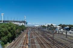 Au sol de cricket de Melbourne Images stock