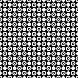 Au sol de dos de blanc de dezine de noir de Semless Triangles, résumé Photographie stock