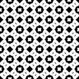 Au sol de dos de blanc de dezine de noir de Semless Triangles, résumé Photos stock