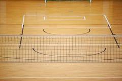 Au sol de jeu de volleyball Image stock