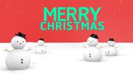 Au sol de neige de Joyeux Noël Image stock