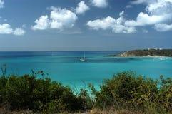 Au sol de Sandy, Anguilla Photos libres de droits