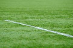 Au sol du football Photographie stock