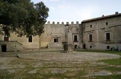 Au sol médiéval de château Image stock