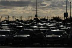 Au sol payé de stationnement d'aéroport de Copenhague Images libres de droits