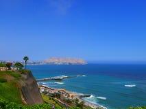 Au sud de la baie de Lima et du parc d'amour Photographie stock
