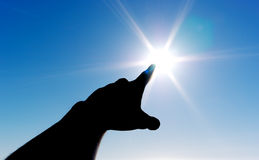 Au Sun Image libre de droits