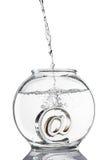 Au symbole dans le fishbowl photo libre de droits