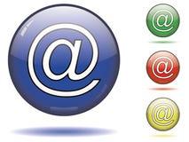 Au symbole de l'email Images stock