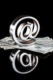 Au symbole sur l'argent Image stock