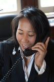 Au téléphone Photo libre de droits