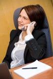 Au téléphone Photo stock