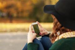 Au téléphone Photos libres de droits