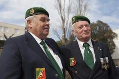 Aubagne Frankrike Maj 11, 2012 Stående av veteran av den franska utländska legionen under årsmötet av veteran Arkivbilder