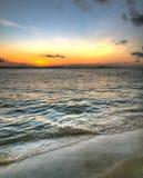 Aube à la plage Photo libre de droits
