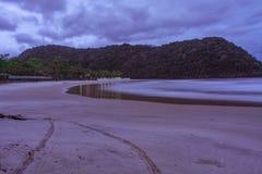 Aube à la plage photographie stock