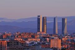 Aube à Madrid. Images stock