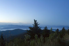 Aube au-dessus de Great Smoky Mountains Images stock