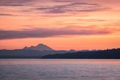 Aube au-dessus de Washington du nord-ouest Image libre de droits