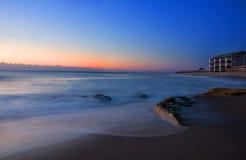 Aube bleue Photographie stock libre de droits