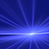 Aube bleue Photo stock
