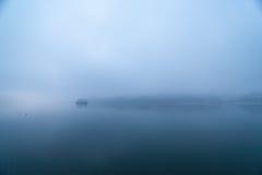 Aube bleue de Han River, Corée Images stock