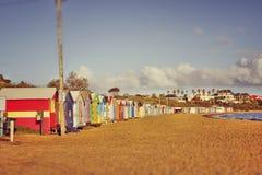 Aube chaude à la plage photographie stock libre de droits
