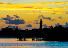 Aube chez Jupiter Lighthouse Photographie stock