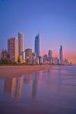 Aube chez la Gold Coast - portrait Photos libres de droits